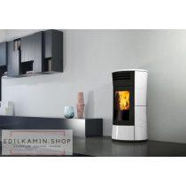 Edilkamin CHERIE UP H 15 kW Vízteres pelletkályha / Kerámia burkolat fényes fehér kerámia