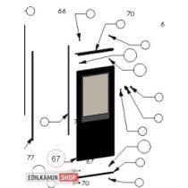 Edilkamin Micron ajtó űveg javitó KIT