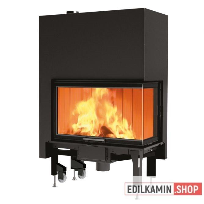 Edilkamin tűztérbetét Windo 2 75 L Bal oldali saroküvegezés