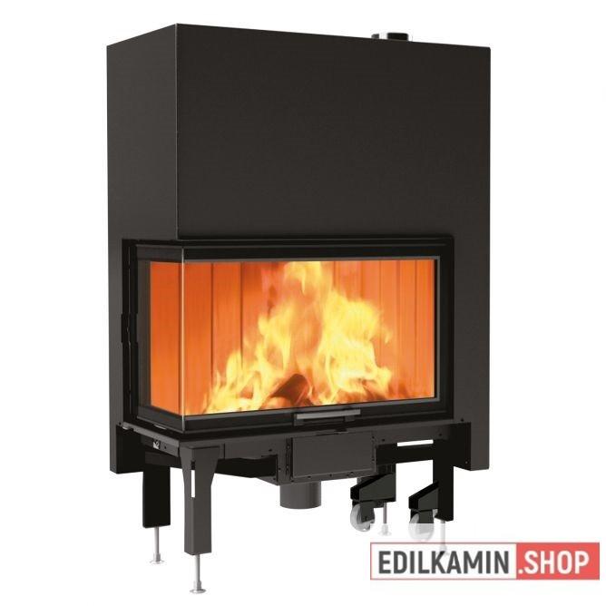 Edilkamin tűztérbetét Windo 2 75 R Jobb oldali saroküvegezés