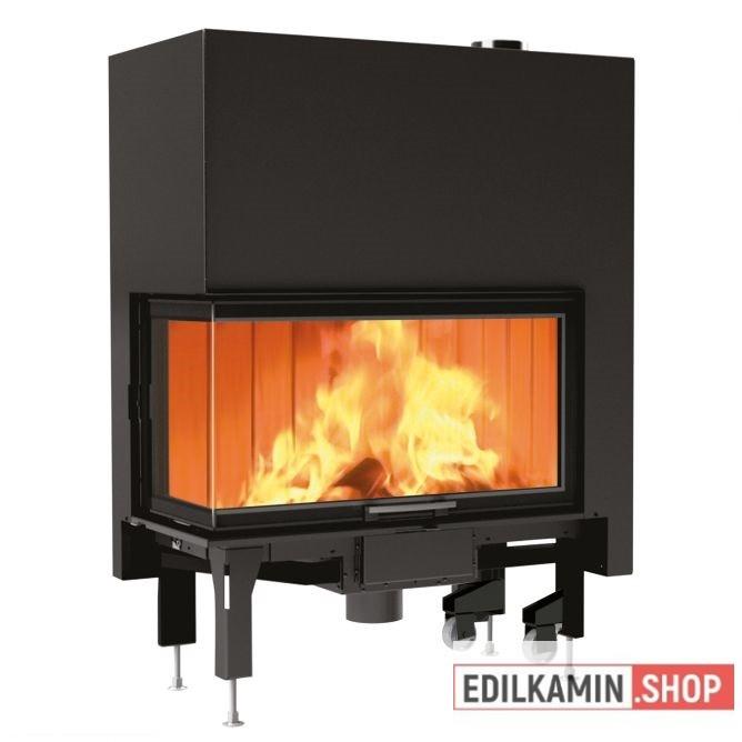 Edilkamin tűztérbetét Windo 2 95 R Jobbl oldali saroküvegezés
