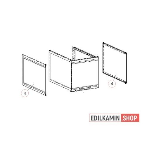 Edilkamin Windo 3 P50 Nagy oldalüveg.