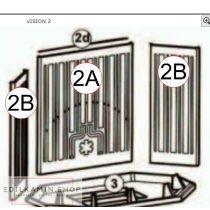 Edilkamin Hátsó oldallap öntvény jobbos v balos (2B)
