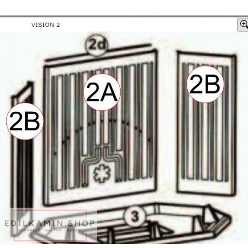 Edilkamin hátlap öntvény Forte/Status/Vision (A2)