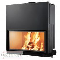 Edilkamin tűztérbetét Flat 100 természetes légáramlás 10,5kW