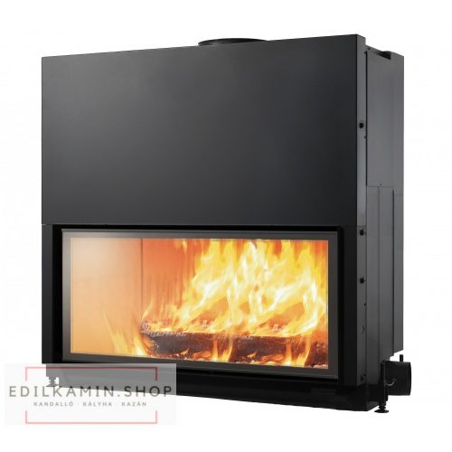 Edilkamin tűztérbetét Flat 120 természetes légáramlás 13kW
