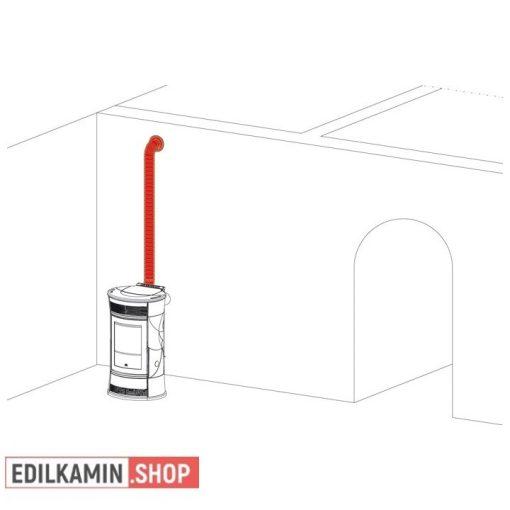 Edilkamin Pellet AIR KIT 11 KiT MELEg LEvEgŐ ELcSATORNÁZÁSÁHOZ Ø 10 cM