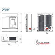 EDILKAMIN Vízteres pellet kályha Daisy