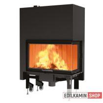 Edilkamin tűztérbetét Windo 2 75 L Bal oldali sarokba való / jobb saroküvegezés