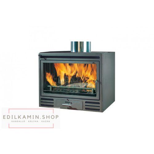 Edilkamin tűztérbetét RIGA 54 V ventillátoros rásegítés 10,5kW sík üveges