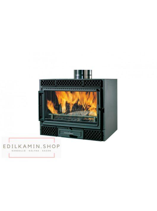 Edilkamin tűztérbetét DECO V ventillátoros rásegítés 10,5 kW sík üveges
