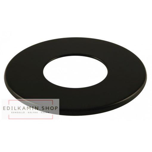 Edilkamin Takató rozetta (C) / rozsdamentes inox 316/L feketére festett szimplafal Ø 8 cm tömítéssel