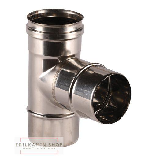 Edilkamin T toldóelem belso (E) / rozsdamentes inox 316/L  szimplafalú Ø 8cm tömítéssel