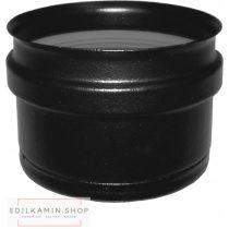 Edilkamin dugó kondenzkivezetés nélkül (F) / rozsdamentes inox 316/L feketére festett szimplafal Ø 8 cm tömítéssel