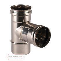 Edilkamin T toldóelem belso (E) / rozsdamentes inox 316/L szimplafal Ø 8 cm tömítéssel