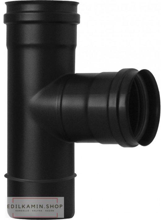 Edilkamin T toldóelem belso (E) / rozsdamentes inox 316/L feketére festett szimplafal Ø 8 cm tömítéssel